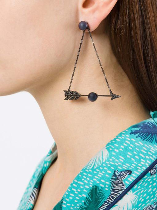 KM Nightclub Accessories Arrow Alloy Drop Chandelier earring 1