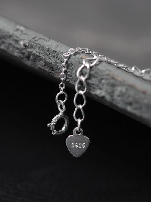 SILVER MI Beautiful Flower Silver Women Necklace 3
