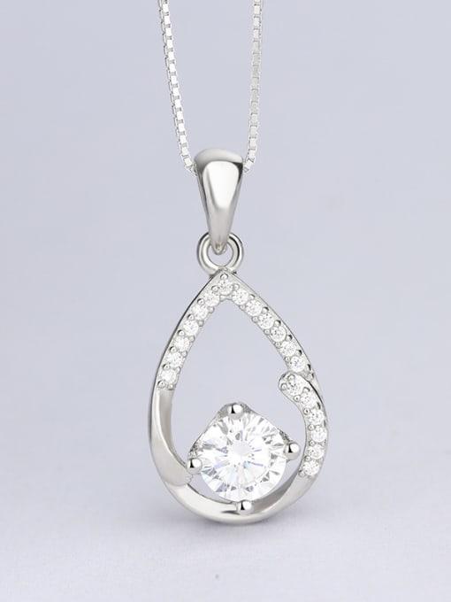 One Silver Elegant Water Drop Shaped Pendant 3