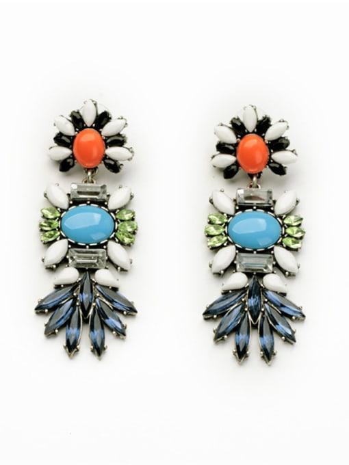KM Flower Personalty Women Drop Chandelier earring