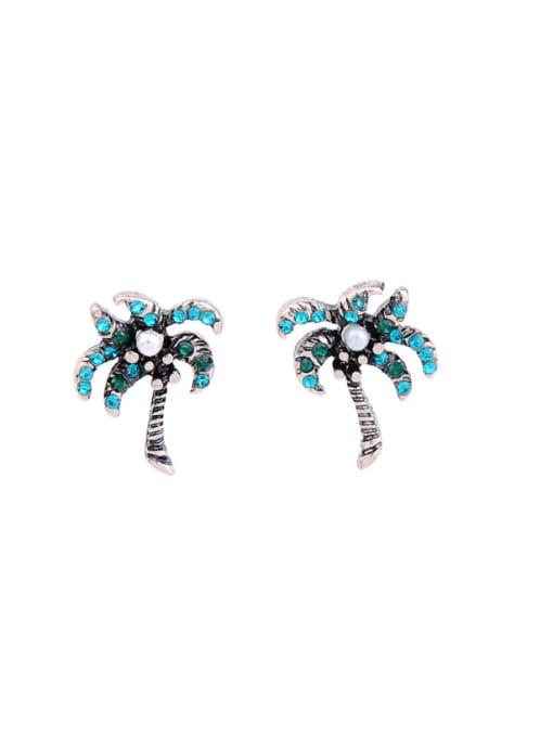 KM Alloy Women Tree-shape stud Earring