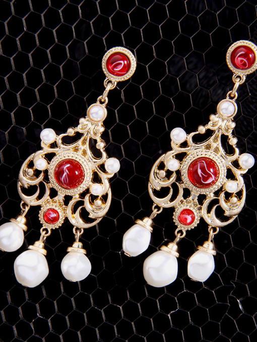 KM Retro Personality Tassel Drop Chandelier earring 2