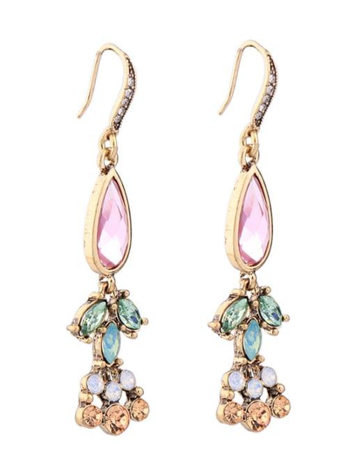 KM Elegant Colorful Stones Women Ear Hooks 1