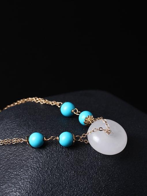 SILVER MI White Jade Fashion Women Bracelet 1
