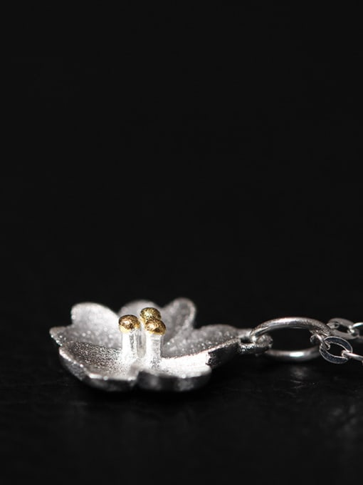 SILVER MI Blossom Flower Women Clavicle Necklace 1