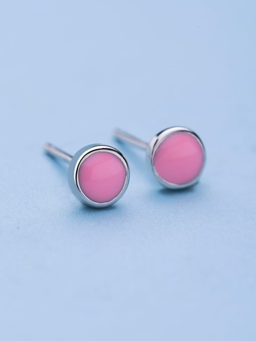 One Silver Fresh Round Shaped stud Earring 3
