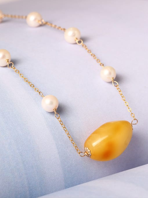 SILVER MI Handmade Freshwater Pearls Clavicle Necklace 1