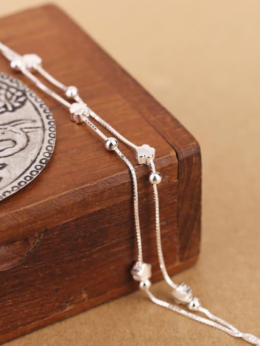 Peng Yuan Simple Tiny Flowers Silver Bracelet 1