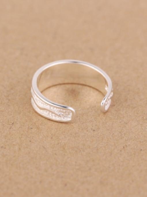 Peng Yuan Tiny Snakes Silver Opening Ring 3