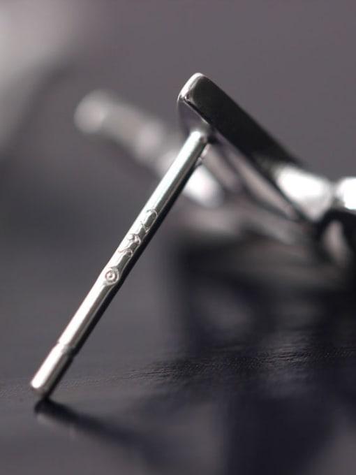 SILVER MI Paper cranes-shape Personality Matt Stud Earrings 1