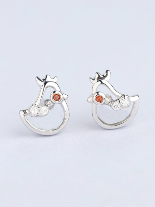 One Silver Cute Bird Shaped Stud cuff earring 2