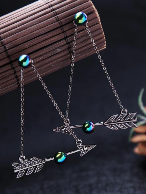 KM Nightclub Accessories Arrow Alloy Drop Chandelier earring 3
