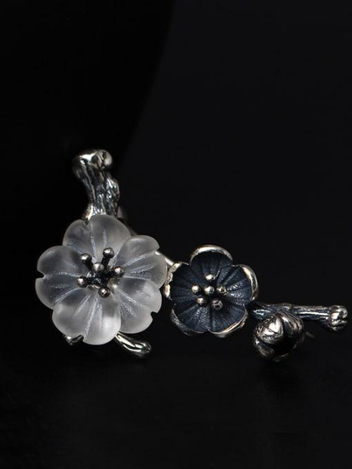 SILVER MI Retro Design Crystal Women Brooch 2