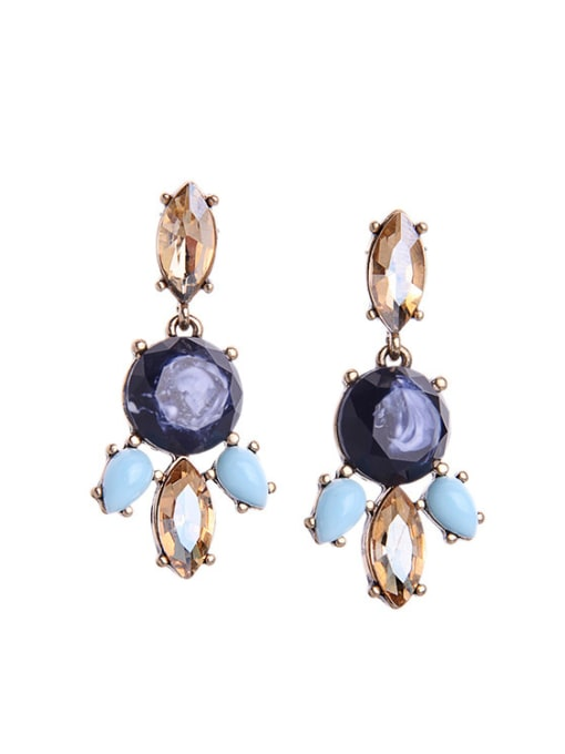 KM Leaves-shape Women Stud Chandelier earring