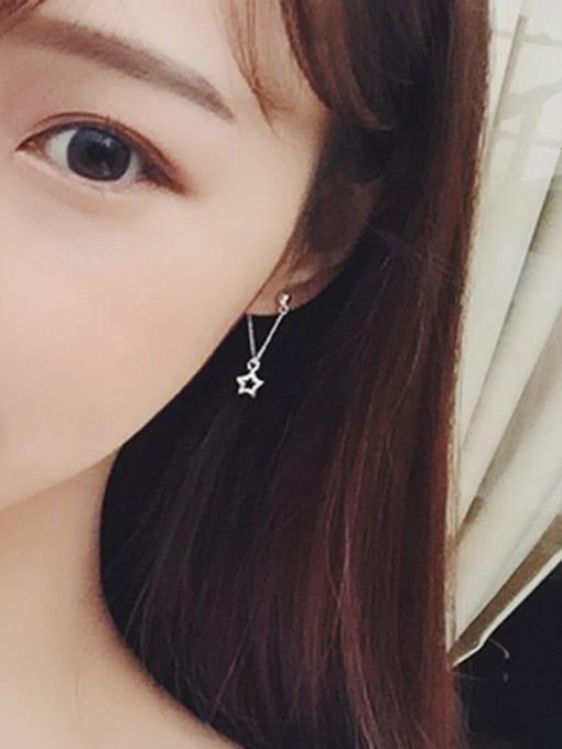 Peng Yuan Simple Five-pointed Star Stud Earrings 1
