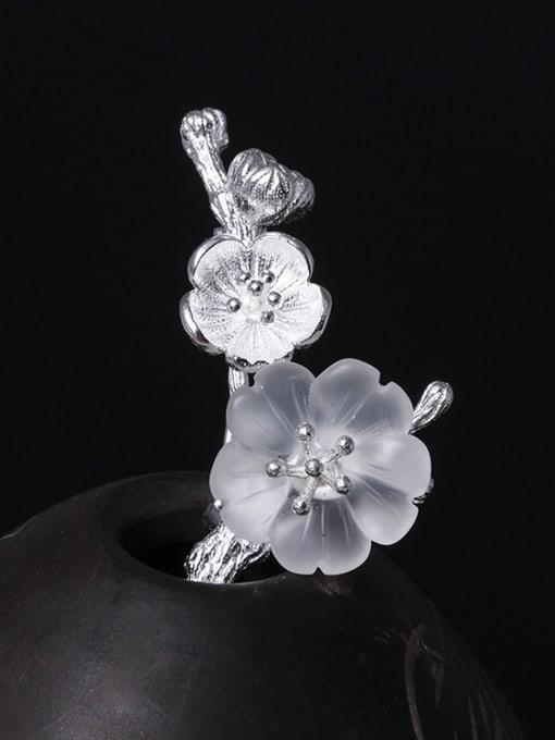 SILVER MI Retro Design Crystal Women Brooch