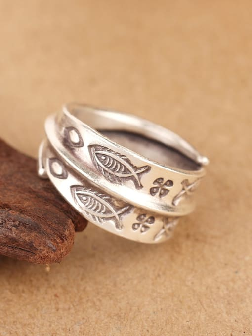 Peng Yuan Personalized Little Fishes Opening Handmade Ring 2