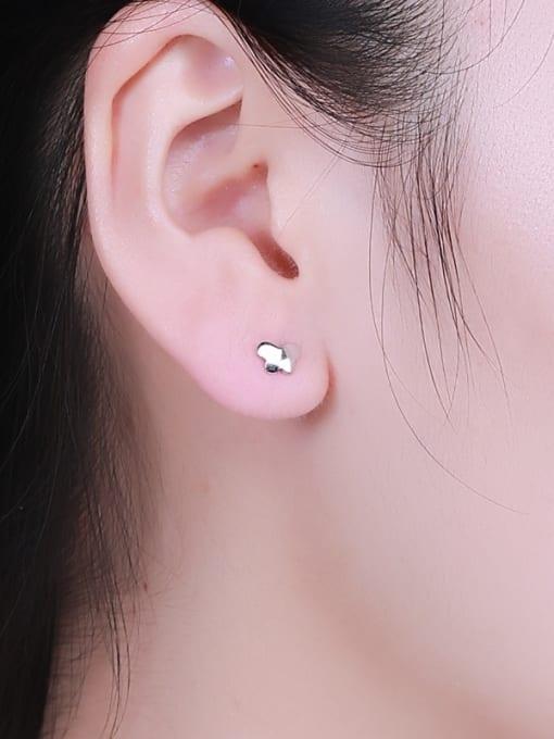 One Silver 925 Silver Butterfly Shaped stud Earring 1