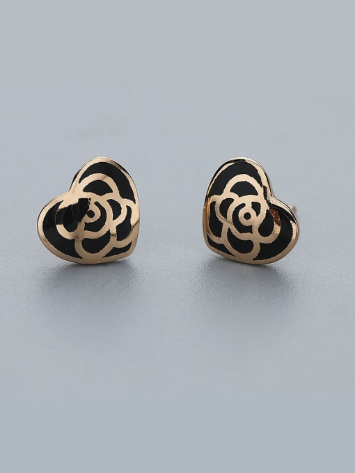 One Silver Retro Style Heart Shaped Earrings