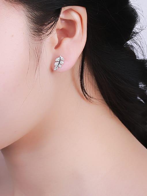 One Silver 925 Silver Maple Leaf Earrings 1
