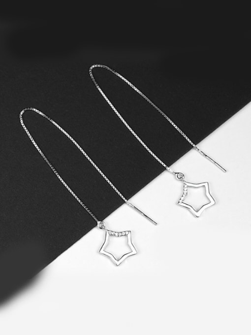 Peng Yuan Simple Hollow Star Line Earrings 2