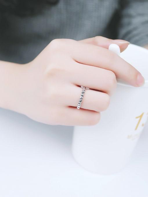 Peng Yuan Retro Tiny Heart shapes Opening Midi Ring 1
