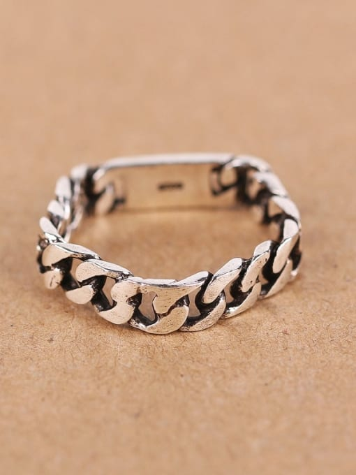 Peng Yuan Personalized Chain shaped Pentagon Midi Ring