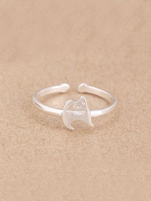 Peng Yuan Simple Little Puppy Opening Midi Ring 0