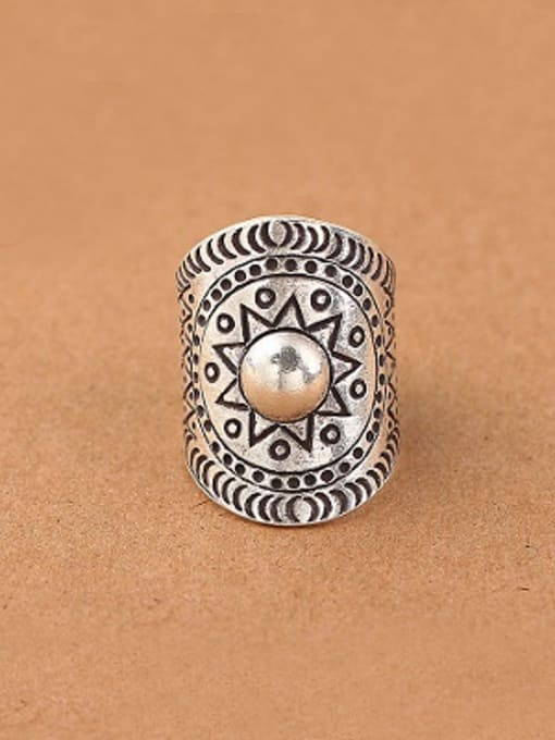 Peng Yuan Ethnic Personalized Silver Opening Ring 0