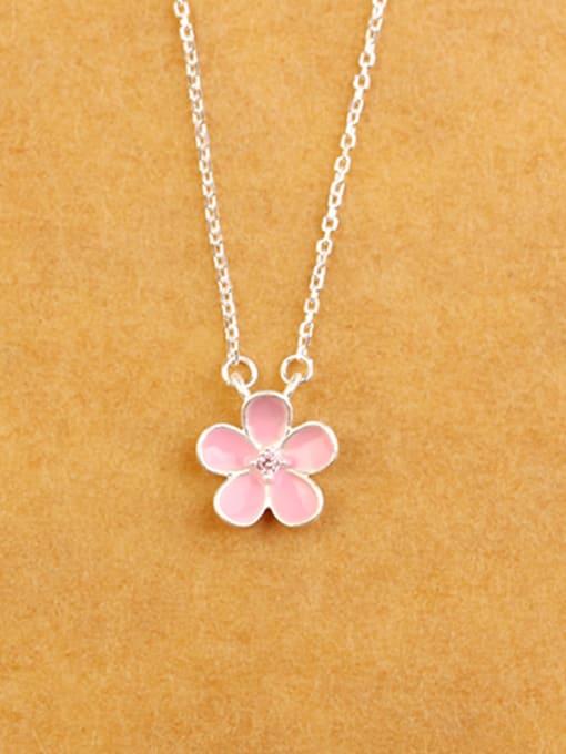 Peng Yuan Fashion Little Pink Flower Necklace