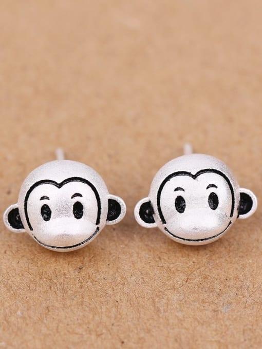Peng Yuan Lovely Monkeys Silver stud Earring