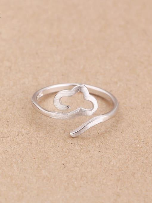 Peng Yuan Simple Cloud Silver Opening Midi Ring 0