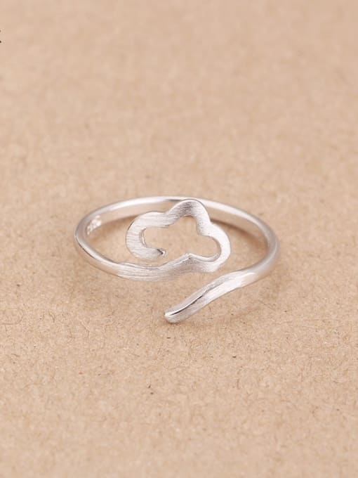 Peng Yuan Simple Cloud Silver Opening Midi Ring