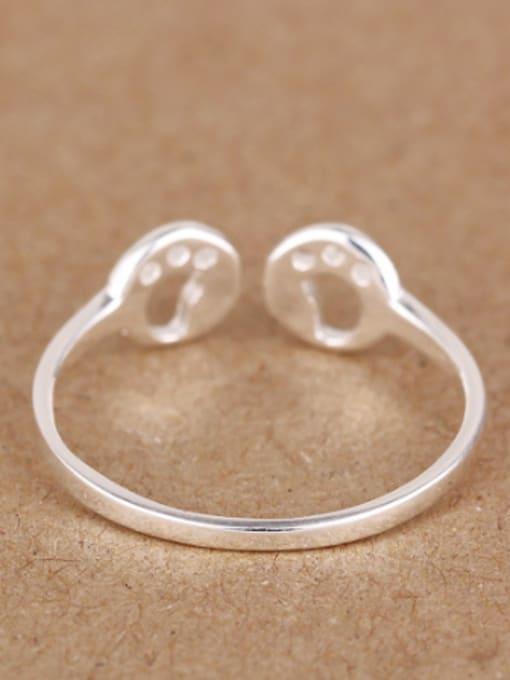 Peng Yuan Tiny Footprint Silver Opening Midi Ring 2