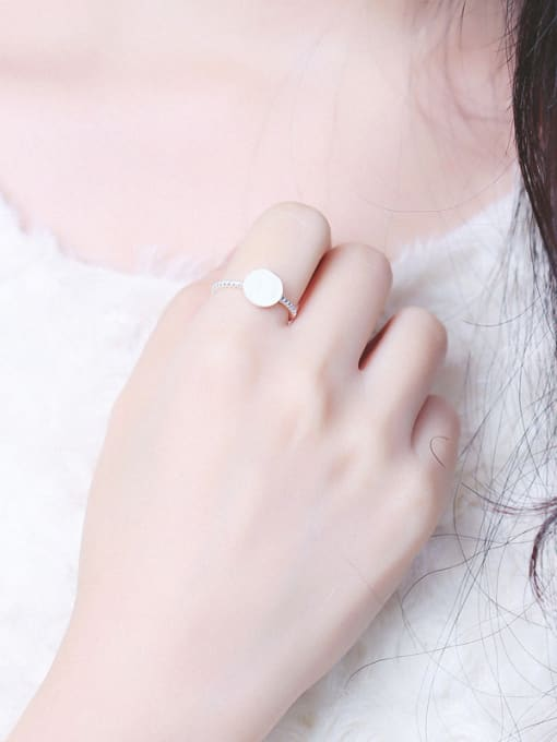 Peng Yuan Round shaped Twisted Opening Signet Ring 1
