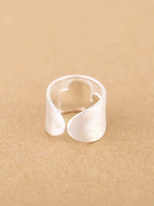 Peng Yuan Personalized LOVE Silver Opening Ring 2