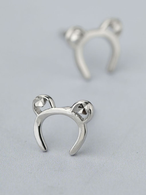 One Silver Women Cute Mickey Mouse earring