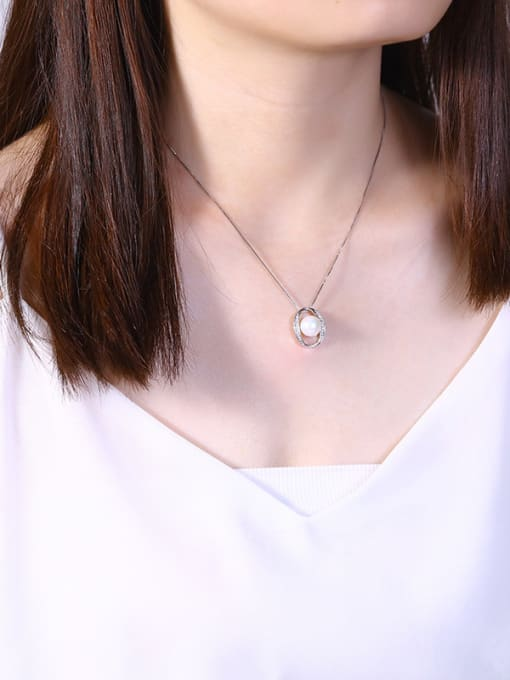 One Silver 925 Silver Freshwater Pearl Pendant 1