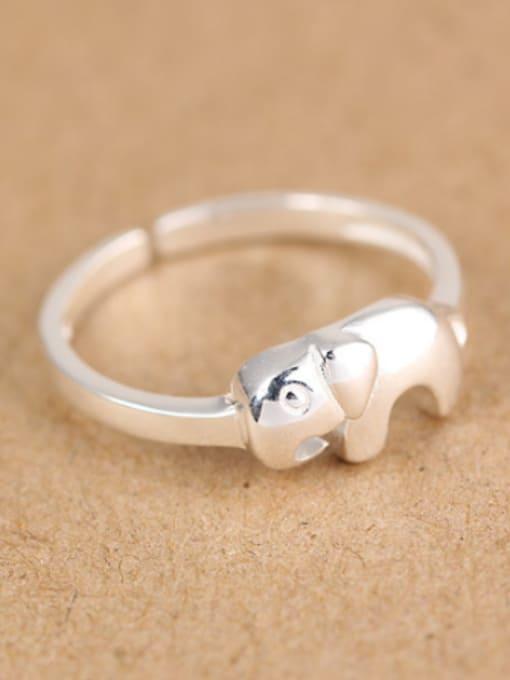 Peng Yuan Simple Little Elephant Opening Midi Ring 2