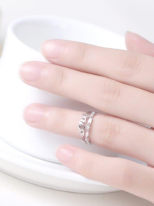 Peng Yuan Fashion Rhinestones Monogram Opening Midi Ring 1
