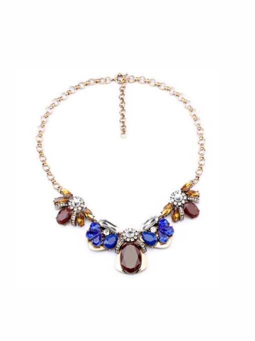 KM Colorful Flower Ladies' Sweater Necklace
