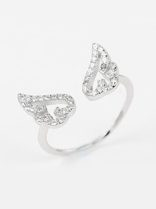 Peng Yuan Fashion Tiny Angel Swings Opening Ring 2