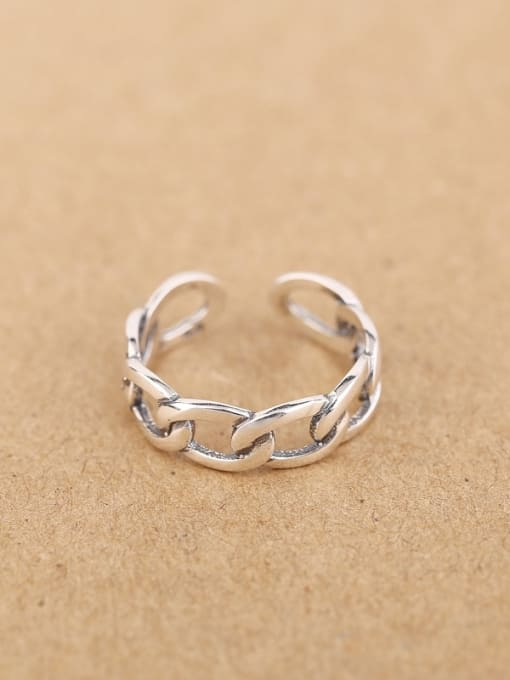 Peng Yuan Fashion Woven Chain Opening Ring 0