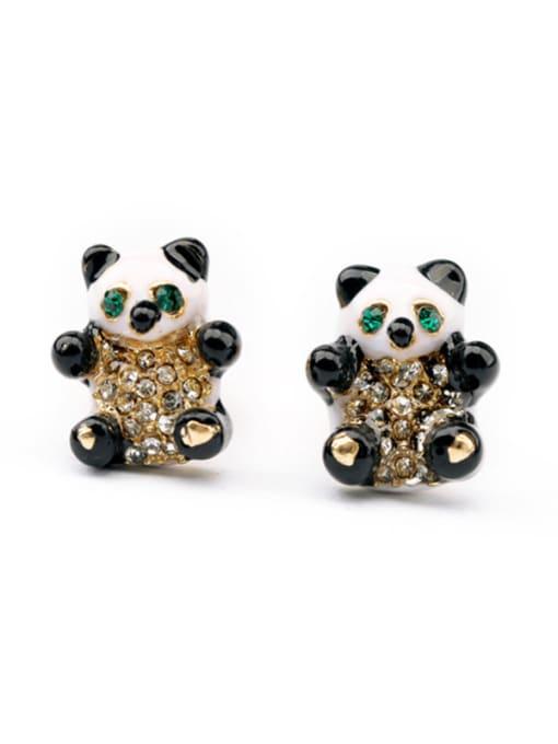 KM Lovely Panda Women's stud Earring 0