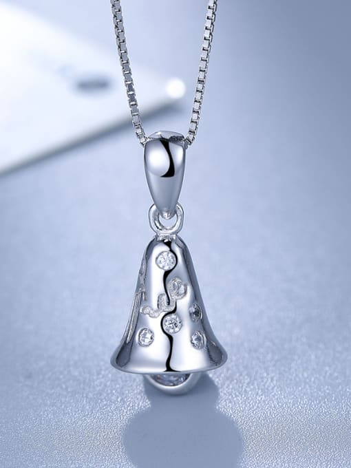 White 925 Silver Bell Shaped Pendant