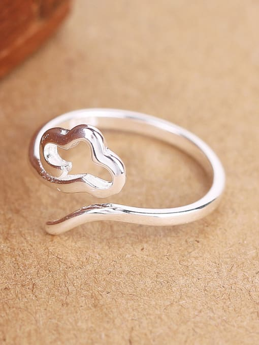 Peng Yuan Simple Cloud Silver Opening Ring 1