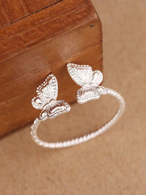 Peng Yuan Fashion Butterflies Silver Opening Ring 1