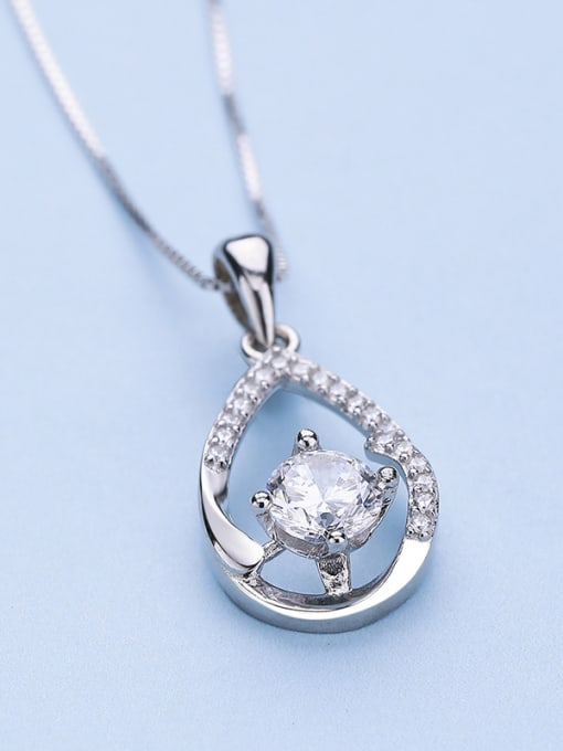 One Silver Elegant Water Drop Shaped Pendant 0