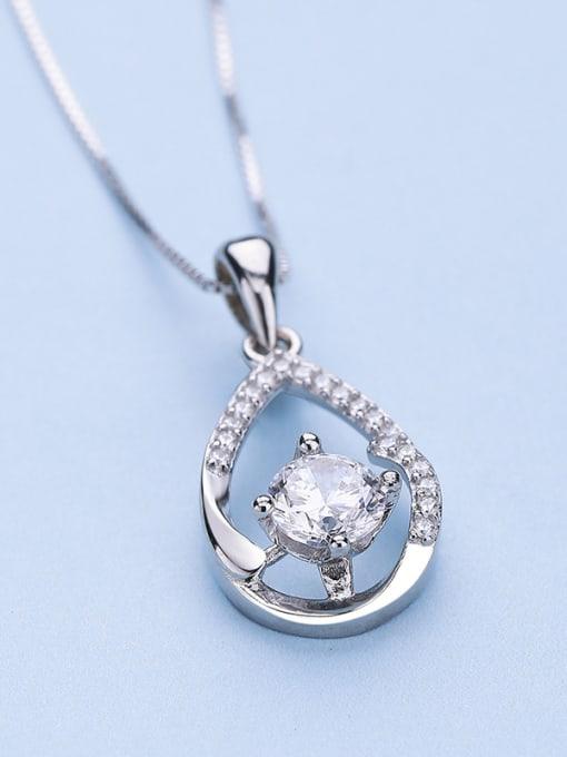One Silver Elegant Water Drop Shaped Pendant