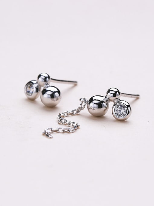 One Silver Exquisite Ball Shaped stud Earring 0